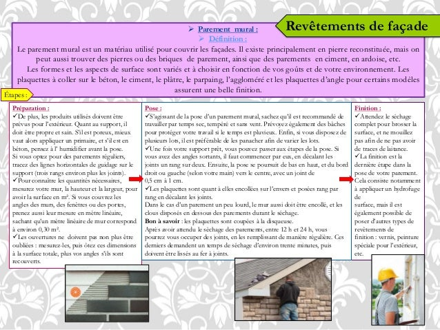 Revetements murs et sols for Enduire un mur exterieur au mortier
