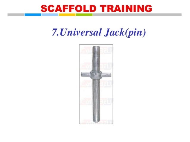 Scaffolding Universal Jack : Eta scaffold training
