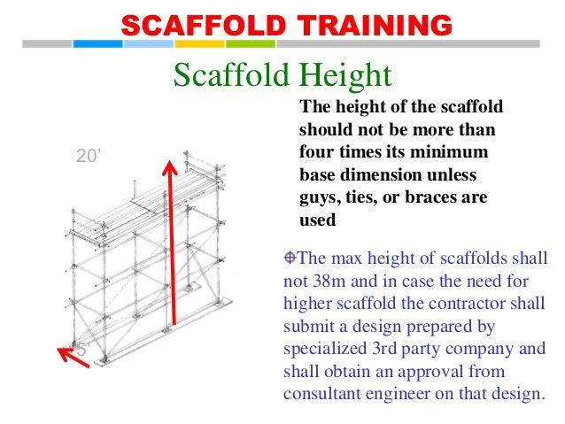 Scaffolding Erecting Procedure : Eta scaffold training