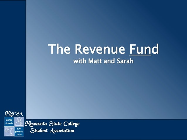 The Revenue Fund with Matt and Sarah