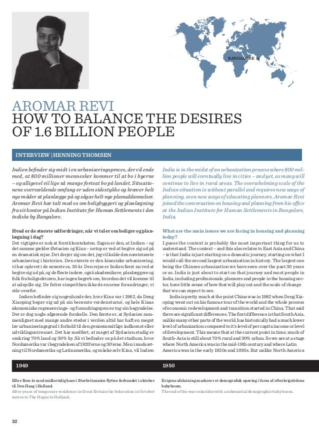 32 AROMAR REVI HOW TO BALANCE THE DESIRES OF 1.6 BILLION PEOPLE INTERVIEW | HENNING THOMSEN BANGALORE w India is in the mi...