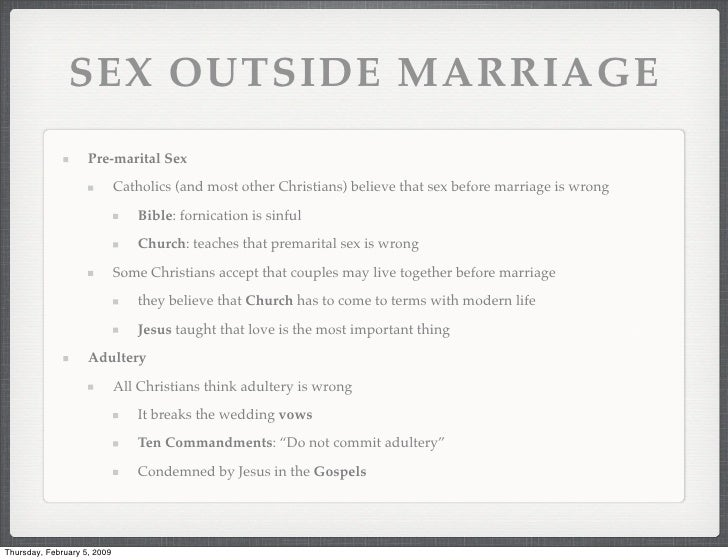 Video bible and sex before marriage