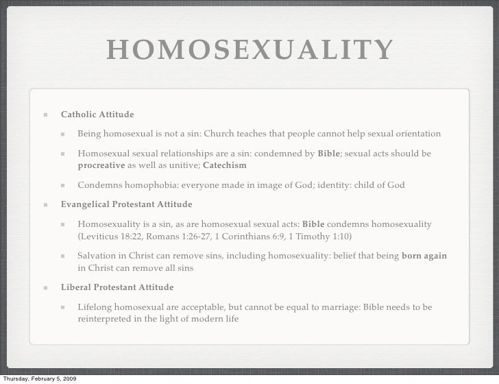 Catechism view on homosexuality and christianity