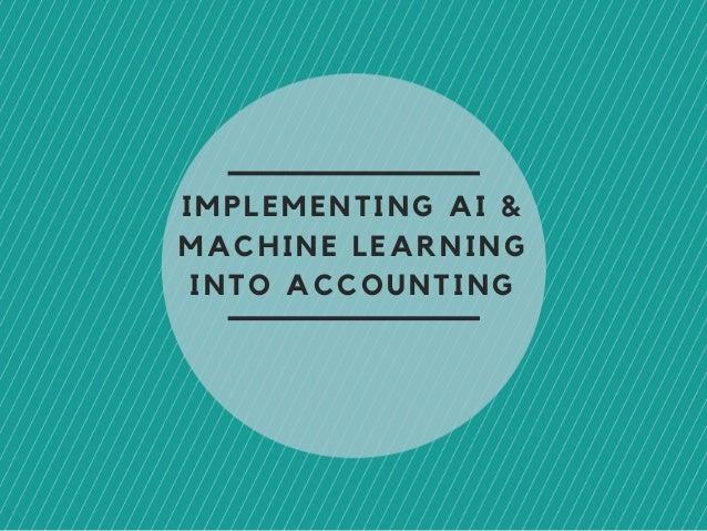 Resultado de imagem para machine learning accounting