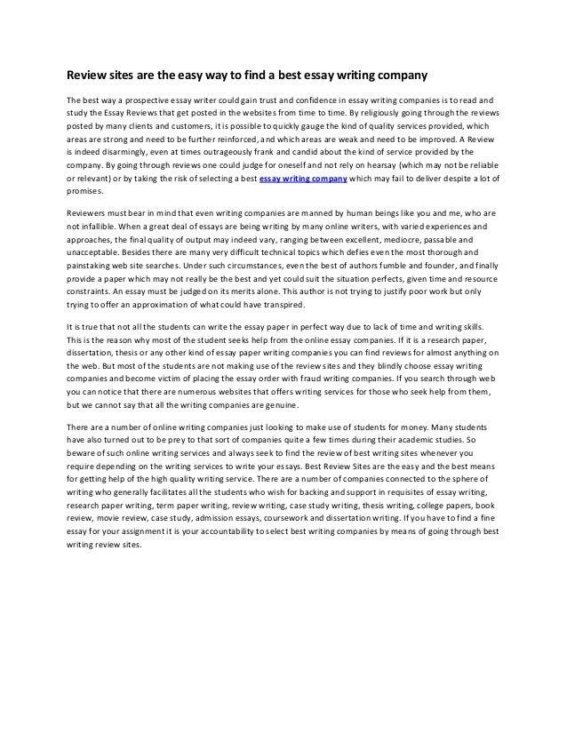 thesis writing companies