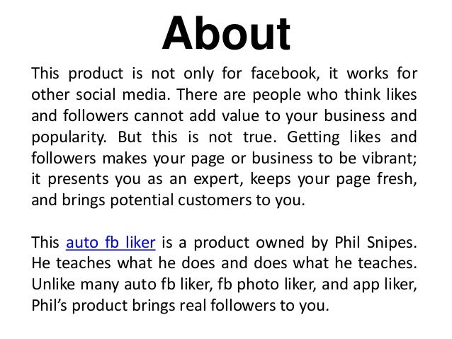 FB Like Course Review - Auto FB Liker With Real Followers