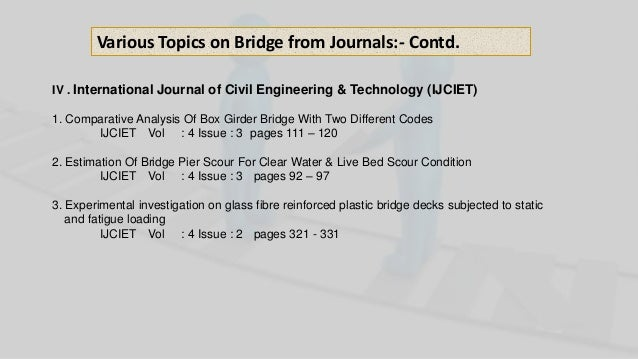 M Tech Structural Engineering Project on Voided and Cellular Bridge i…