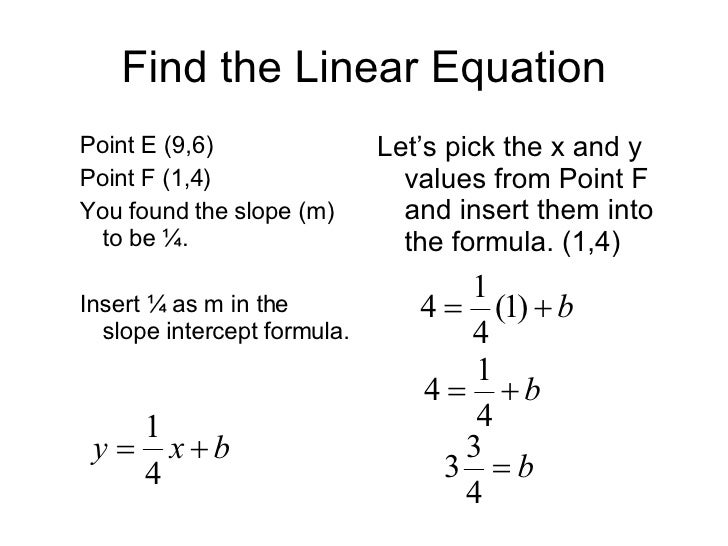 point slope intercept method Our free lesson will teach how to use the slope intercept form to re-writing into point-slope check out a similar method of graphing lines, the point-slope.