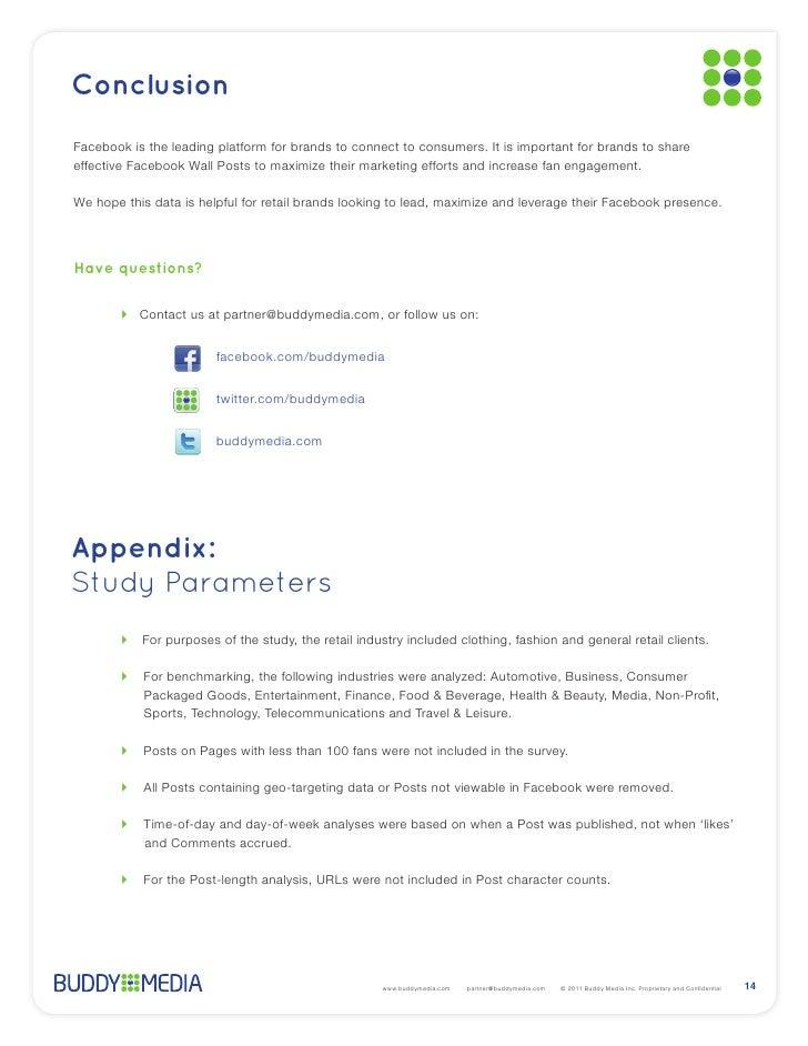 ConclusionHave questions?                  buddymedia.comAppendix:Study Parameters                                   www.b...