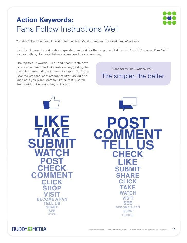 Buddymedia: Strategies for effective facebook wall posts