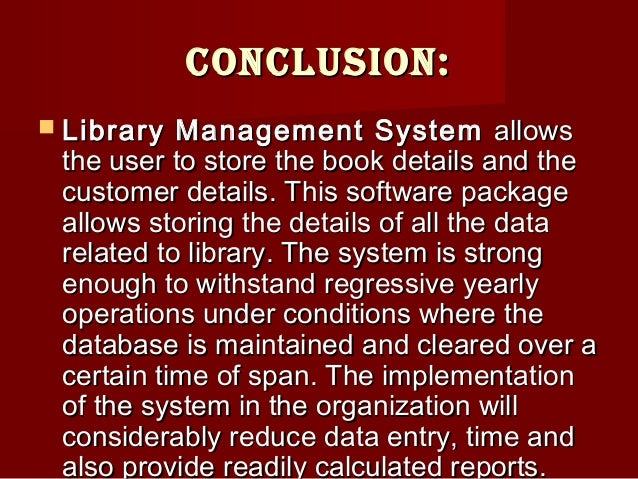 Abstract Of Library Management System