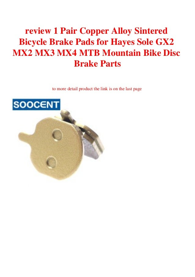 Cycling Mountain Road Bike SIntered Disc Brake Pads for HAYES MX2 MX3 MX4 SOLE