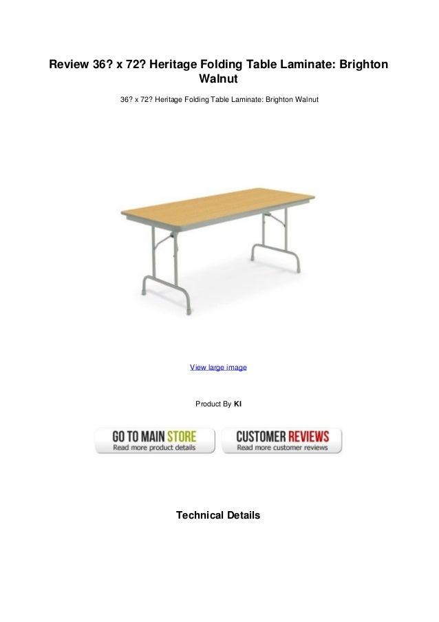 Review 36 X 72 Heritage Folding Table Laminate Brighton Walnut