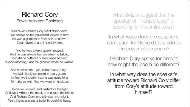 what is the poem richard cory about