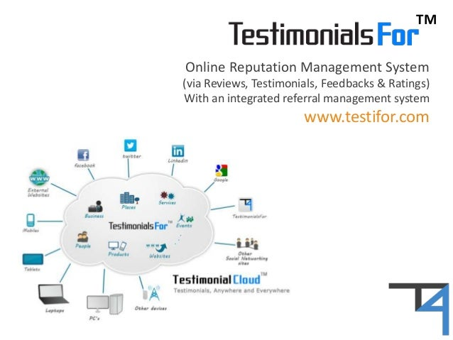 TM Online Reputation Management System (via Reviews, Testimonials, Feedbacks & Ratings) With an integrated referral manage...