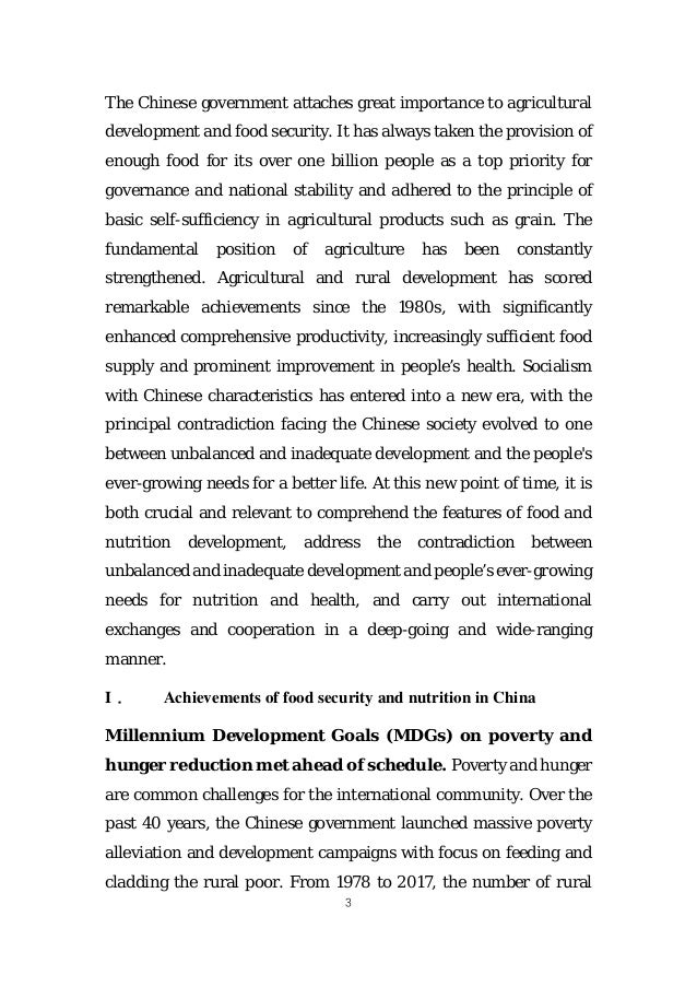 Review and outlook of food security and nutrition in china Slide 2