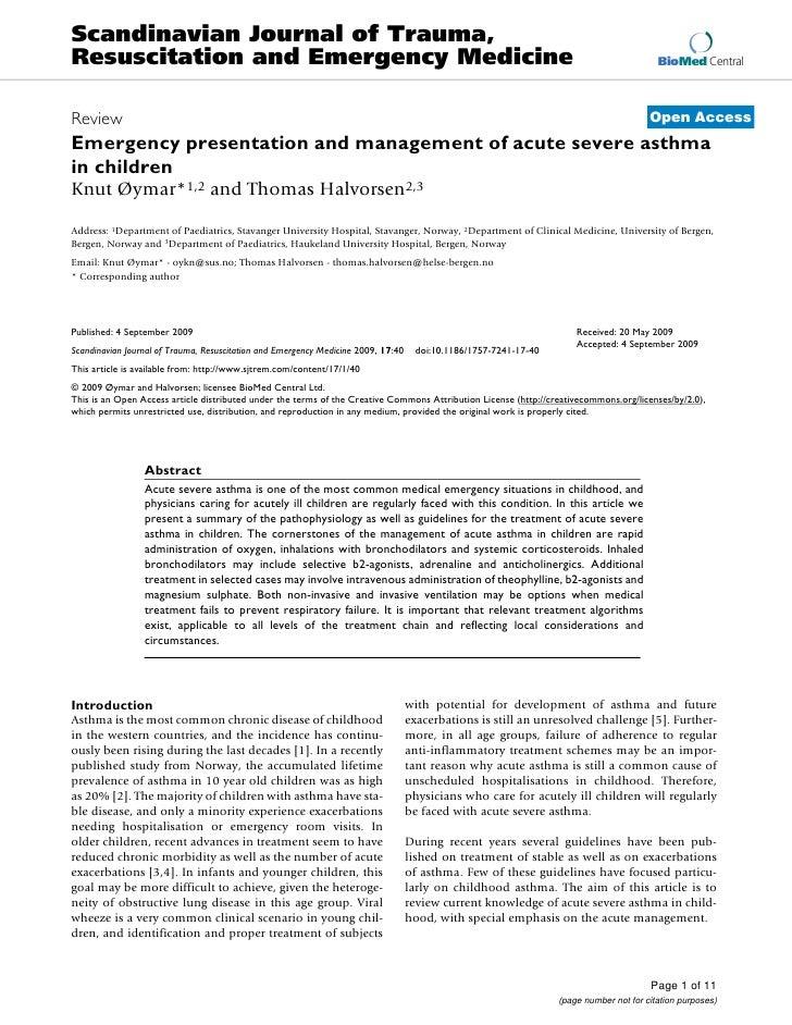 Scandinavian Journal of Trauma, Resuscitation and Emergency Medicine                                                      ...