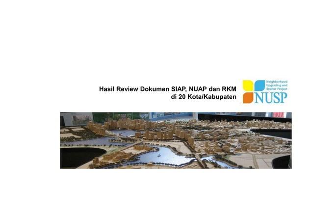 Hasil Review Dokumen SIAP, NUAP dan RKM di 20 Kota/Kabupaten
