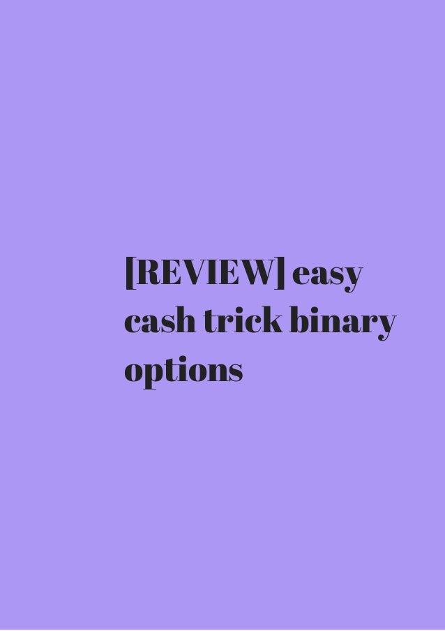 Tricks binary options