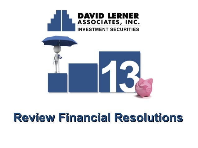 Review Financial Resolutions