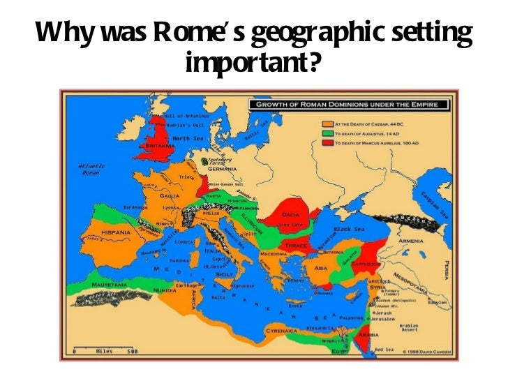 Why was Rome's geographic setting important?