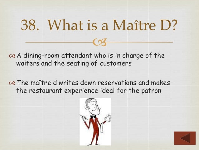 39 TM A Dining Room Attendant