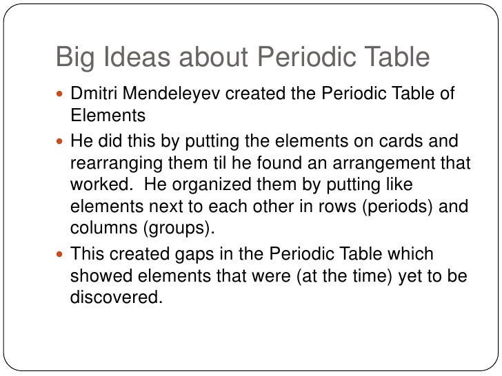 Review for quiz review for quizbr 2 big ideas about periodic tablebr urtaz Gallery