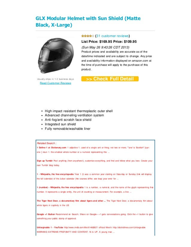 c7d3bebafd0fd Review glx modular helmet with sun shield (matte black