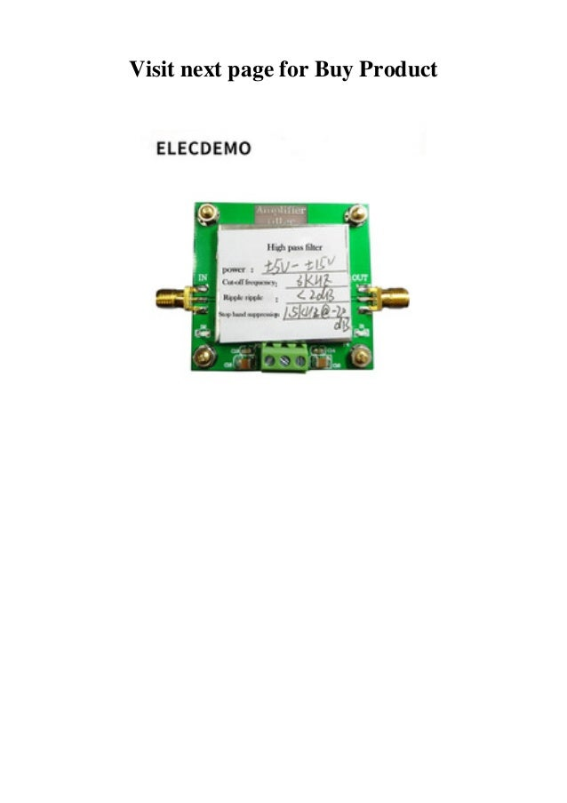review high-pass filter module 8th-order filtering cut-off frequency …  slideshare