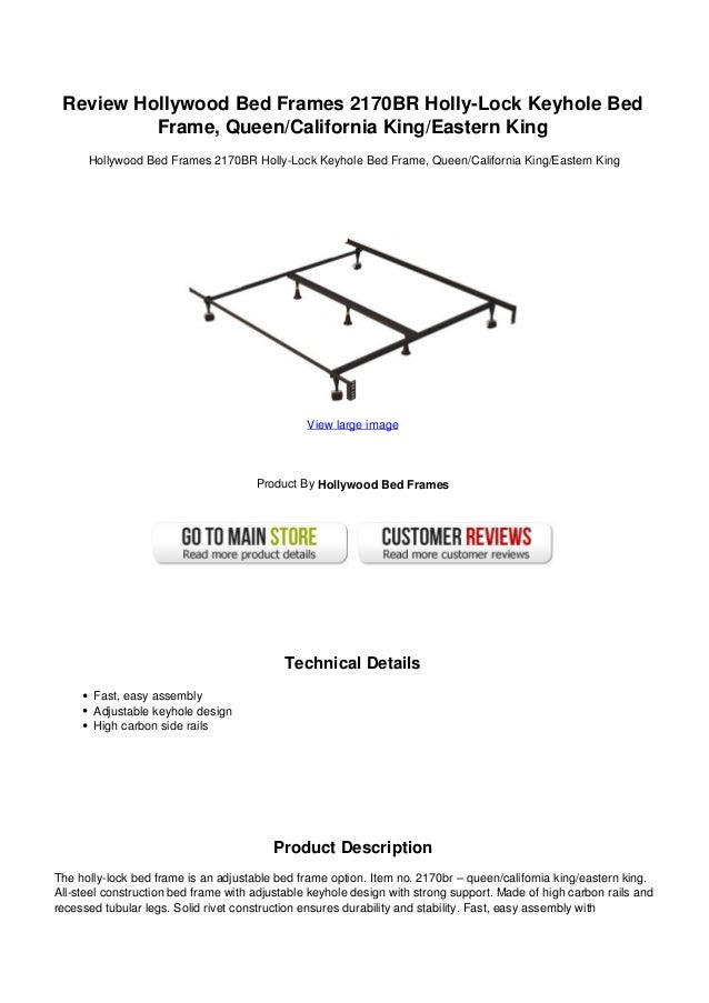 Review hollywood bed frames 2170 br holly lock keyhole bed frame quee…