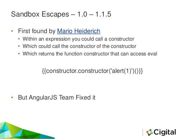 Sandbox Escapes – 1.1.5 > • Jann Horn • Gareth Heyes • Mathias Karlsson • Gábor Molnár