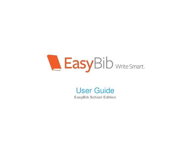 User Guide EasyBib School Edition