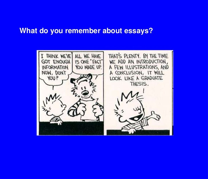 What do you remember about essays?