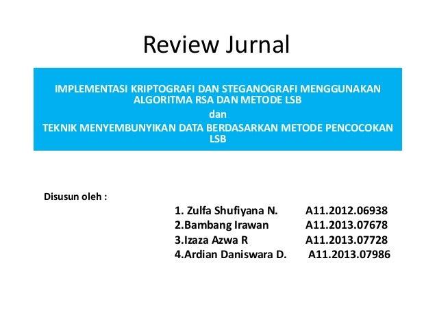 Review Jurnal Kriptogragi Dan Steganografi