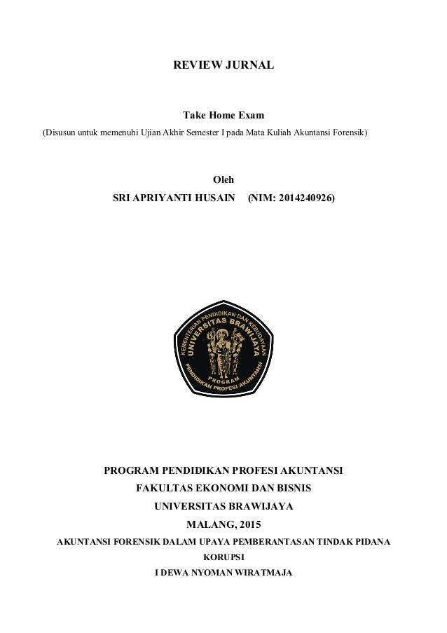 review jurnal akuntansi forensik uas pp ak kelas malam