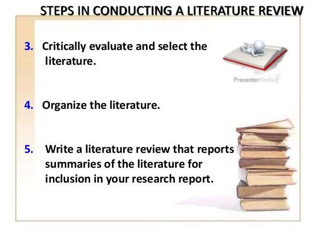 critically evaluate literature review