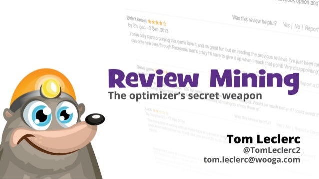 re•view′min•ing /rɪˈvjuːˈmaɪnɪŋ/ (noun)  Definition:  Analyzing qualitative data from app store reviews, with a view to in...