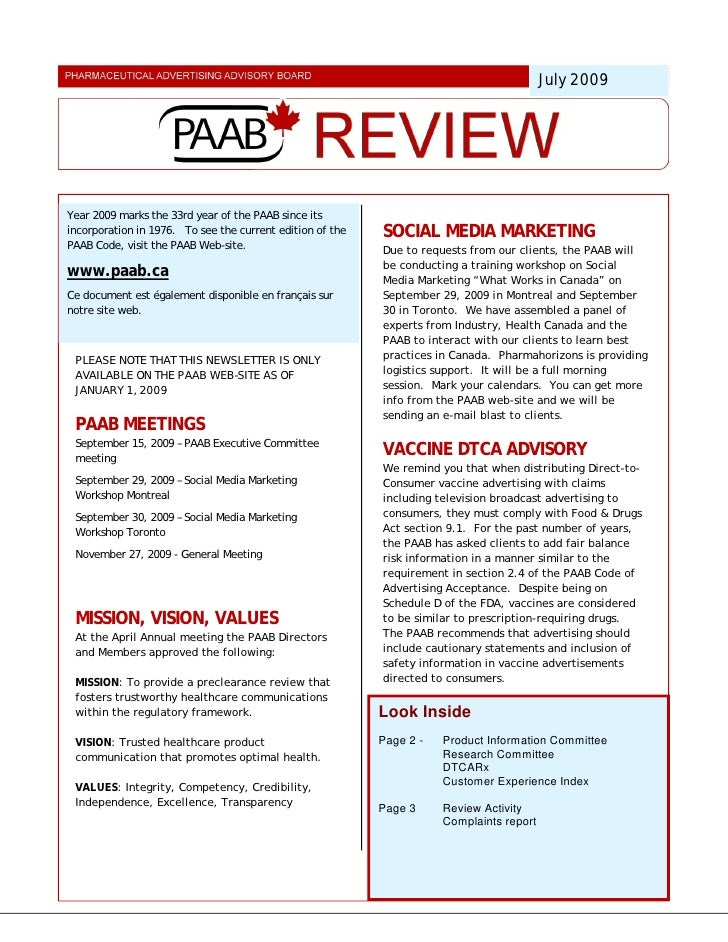 July 2009     Year 2009 marks the 33rd year of the PAAB since its incorporation in 1976. To see the current edition of the...