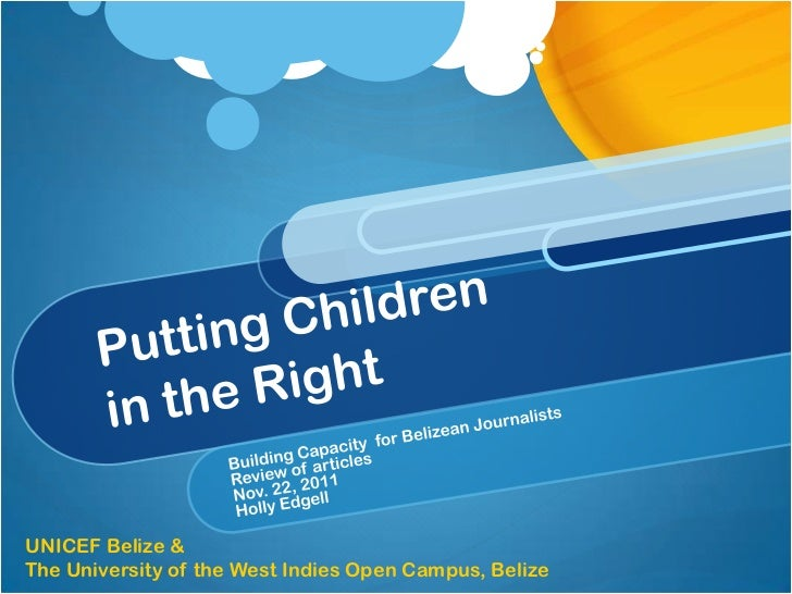 UNICEF Belize &The University of the West Indies Open Campus, Belize