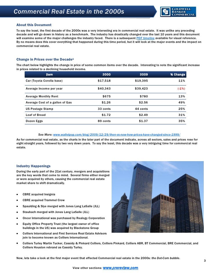 Commercial Real Estate in the 2000s About this Document To say the least, the first decade of the 2000s was a very interes...