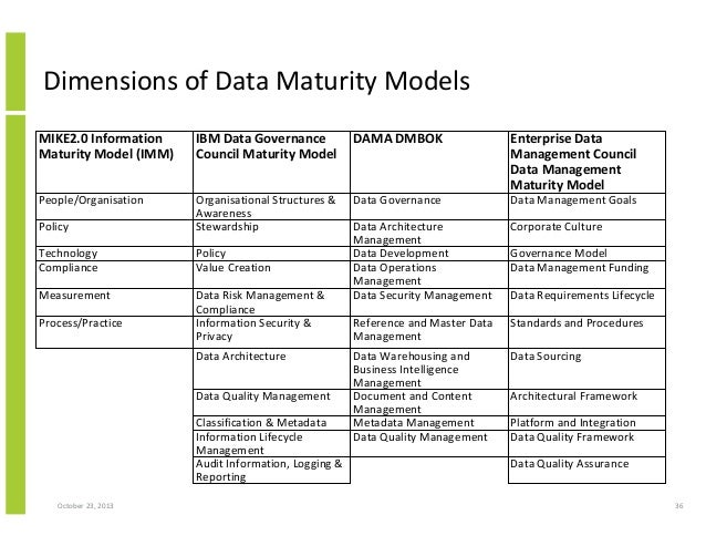 Information management maturity model