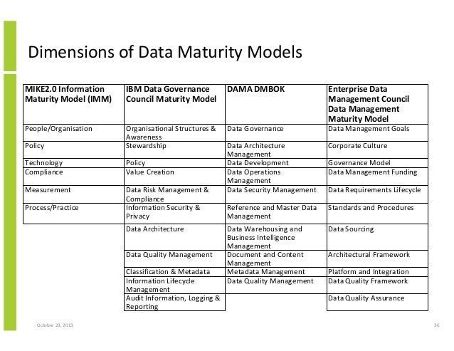 Information management maturity model
