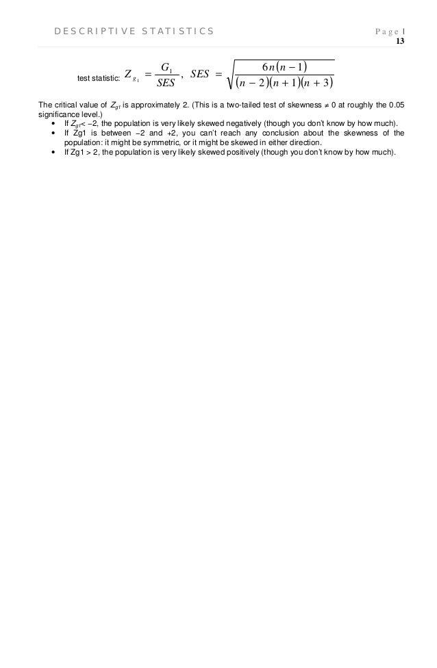 Descriptive statistics - Literature review Example