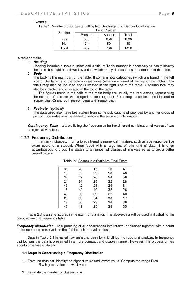 table 1 research paper descriptive statistics