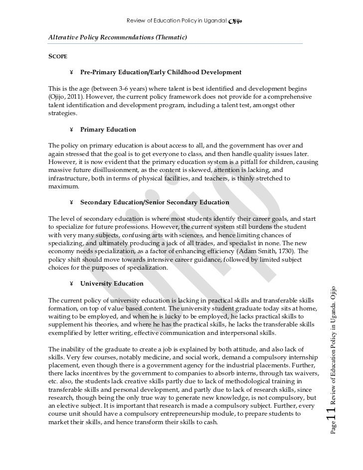 education policy literature review