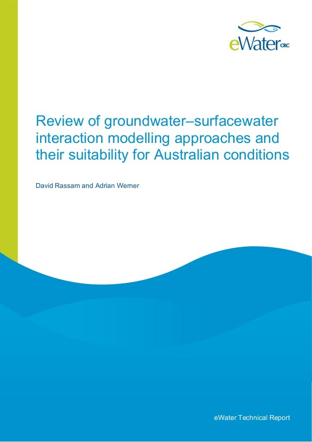 Review of Groundwater Surfacewater Interaction Modelling