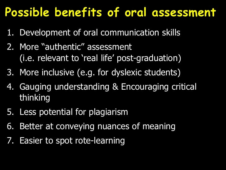 Oral assessments — photo 1