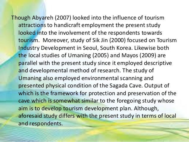 review of related literature in tourism industry Destination branding is becoming an essential topic for the tourism industry   useful for developing brand models to improve tourism industry 2 literature  review  literature related to segmentation of tourists visiting a specific  destination.