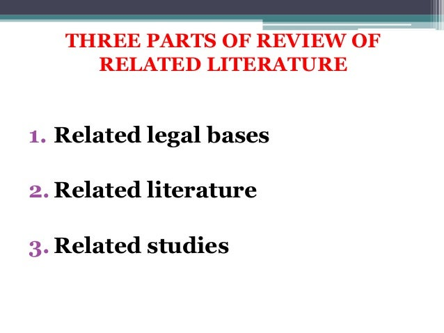the importance or purpose of review of related literature and studies in a research Conducting a literature review  research project is related to the work of others  be aware of the potential importance of these other variables.
